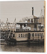 The River Lady Toms River New Jersey Wood Print