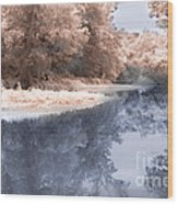 The River - Near Infrared Wood Print