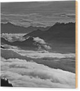 The River Of Clouds Wood Print