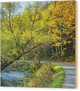 The River Road Curve Wood Print