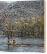 The River Runs Through It Wood Print