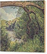 The River Severn At Buildwas Wood Print by Amanda Elwell