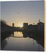 The River Swiffey At Sunrise - Dublin Ireland Wood Print