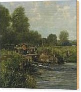 The River Thames Wood Print