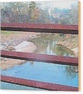 The River Through The Rails Wood Print