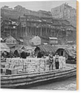 The Riverfront Of Chungking, China Wood Print