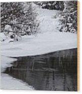 The River's Edge Wood Print by Steven Valkenberg