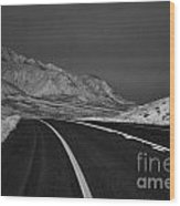 The Road Ahead-infrared Wood Print