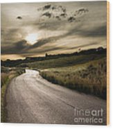 The Road Wood Print by Boon Mee