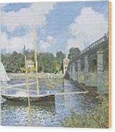 The Road Bridge At Argenteuil Wood Print