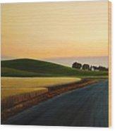 The Road Near Estes Wood Print