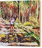 The Road Not Taken Wood Print