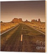 The Road To Monument Valley -utah  Wood Print