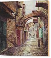 The Road To The Cross  Jerusalem Wood Print