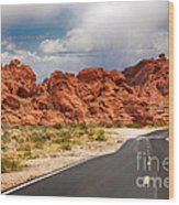 The Road To The Valley Of Fire Wood Print