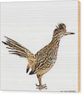 State Bird Of New Mexico Wood Print