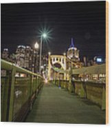 The Roberto Clemente Bridge Wood Print
