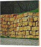 The Rock Wall Wood Print
