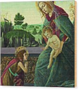 The Rockefeller Madonna. Madonna And Child With Young Saint John The Baptist Wood Print