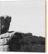 The Rocks Of Contrast Wood Print
