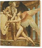The Roll Of Fate Wood Print by Walter Crane