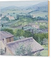 The Rolling Hills Of Tuscany Wood Print