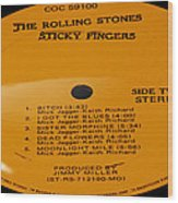 The Rolling Stones Sticky Fingers Side 2 Wood Print
