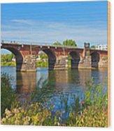 The Roman Bridge Over Mosel River In Wood Print