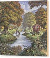 The Romany Camp Wood Print