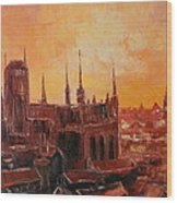 The Roofs Of Gdansk Wood Print