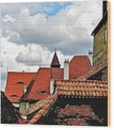 The Roofs Of Sibiu In Transylvania Wood Print