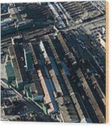 The Rooftops Of Arcelormittal Dofasco Wood Print