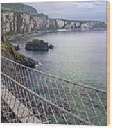 Rope Bridge Northern Ireland Wood Print