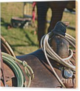 The Ropin Rig Wood Print