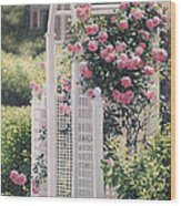 The Rose Arbor The Wauwinet Wood Print