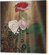The Rose Of Sharon Wood Print