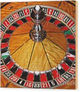 The Roulette Wheel Wood Print