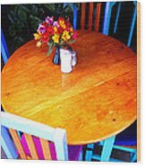 The Round Table Wood Print