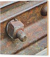 The Roundhouse Evanston Wyoming - 4 Wood Print