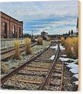 The Roundhouse Evanston Wyoming - 5 Wood Print