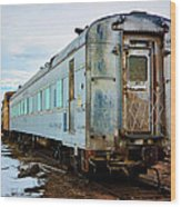 The Roundhouse Evanston Wyoming Dining Car - 1 Wood Print