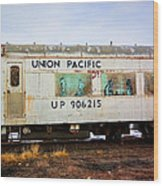 The Roundhouse Evanston Wyoming Dining Car - 5 Wood Print