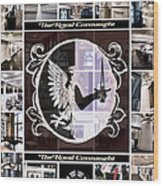The Royal Connaught Crest Photo Collage Wood Print