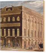 The Royal Couborg Theatre, 1826 Wood Print
