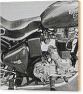 The Royal Enfield Motorbike Wood Print