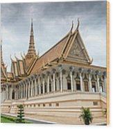 The Royal Palace And Silver Pagoda In Wood Print