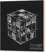 The Rubik's Cube Wood Print