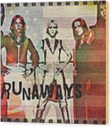 The Runaways - 1977 Wood Print