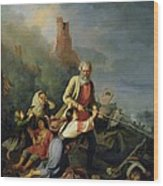 The Russians In 1812, 1855 Oil On Canvas Wood Print