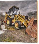 The Rusty Digger Wood Print